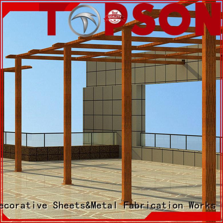 Topson powder aluminum pergola manufacturers factory for garden