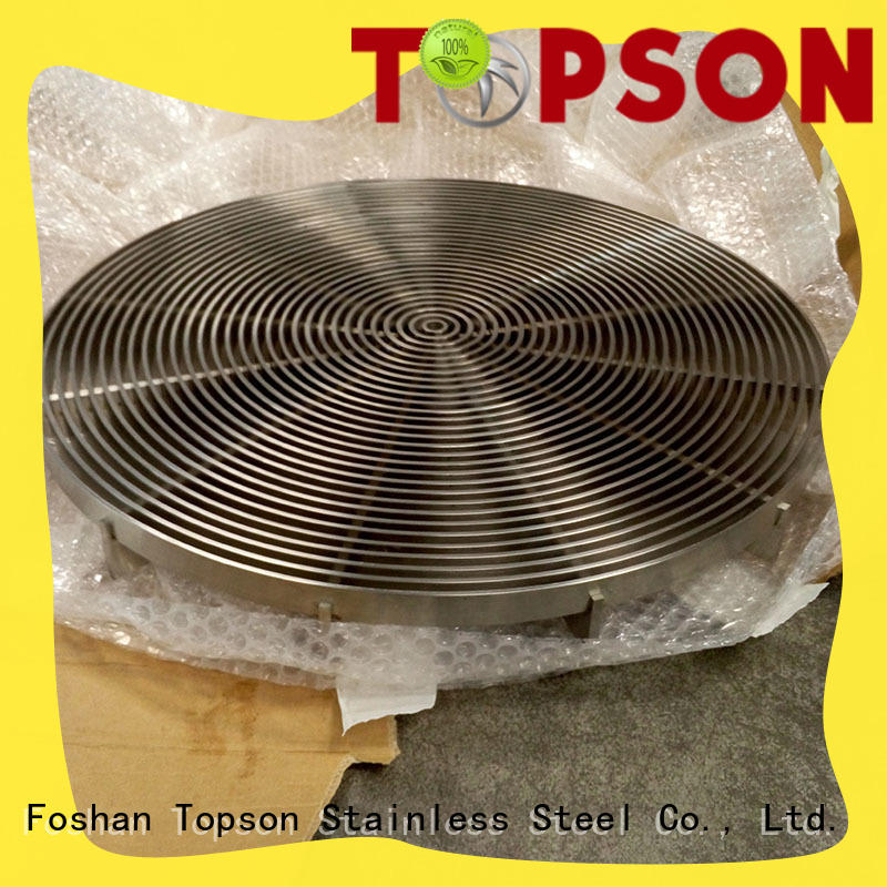 Topson contemporary stainless steel grating management for office