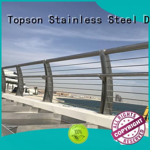 Topson popular stainless balcony railings management for building