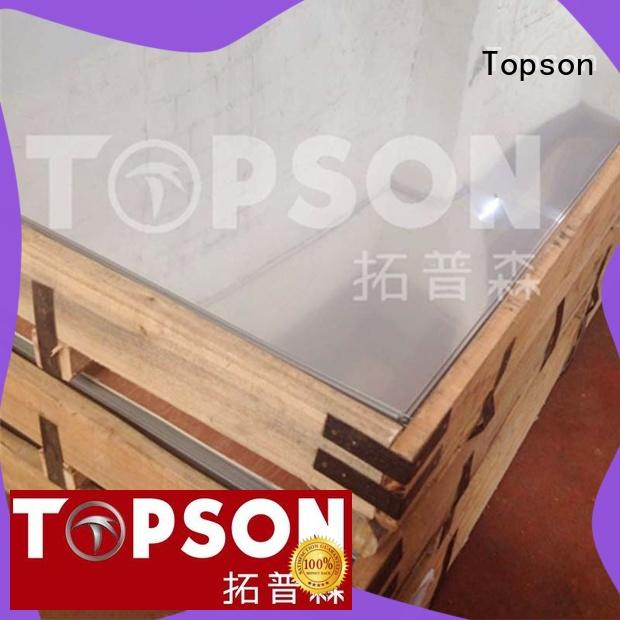 Topson antifingerprint polished stainless steel sheet price company for partition screens