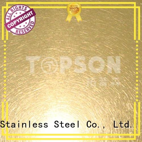 Topson decorative stainless sheet metal Suppliers for interior wall decoration