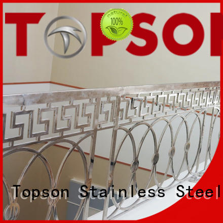 balcony stainless steel handrail management for hotel Topson