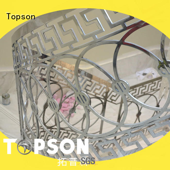 stainless steel outdoor handrails staircase for tower Topson