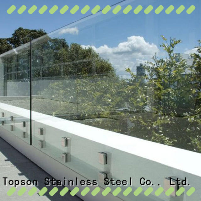 Topson High-quality glass handrails for decks Supply for outdoor
