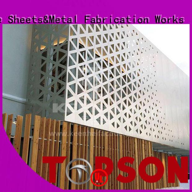 steel internal decorative screens marketing for curtail wall Topson