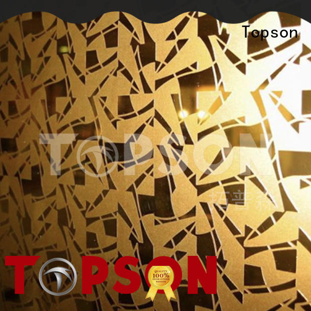 Topson stable stainless steel sheet metal prices security for handrail