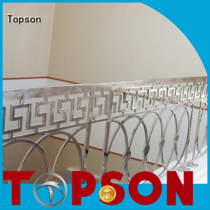 Topson high-tech stainless steel guardrail systems factory for building