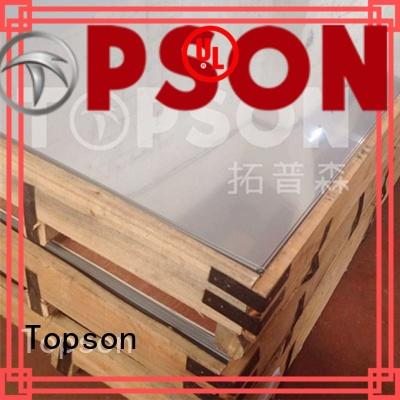 Topson vibration stainless steel panels for handrail