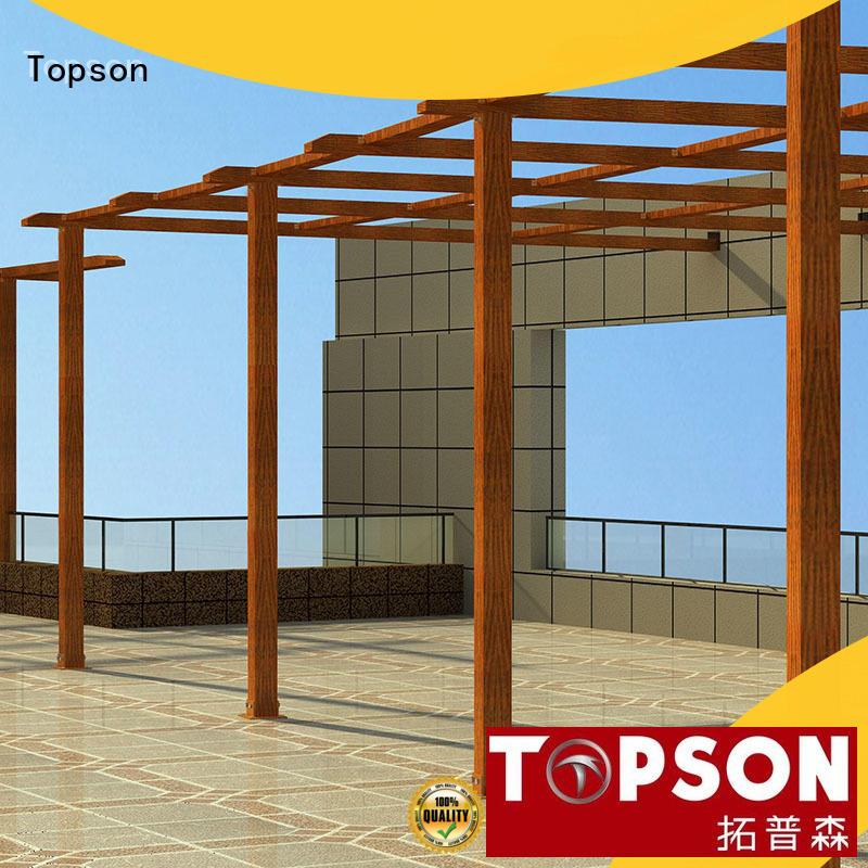 pergolaaluminum pergola structure aluminium aluminium for park Topson