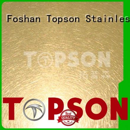 Topson magnificent stainless steel sheet prices containerization for interior wall decoration