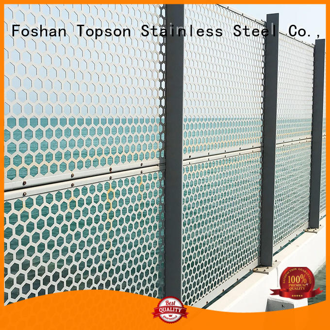 Topson Latest perforated mesh screen from china for building faced