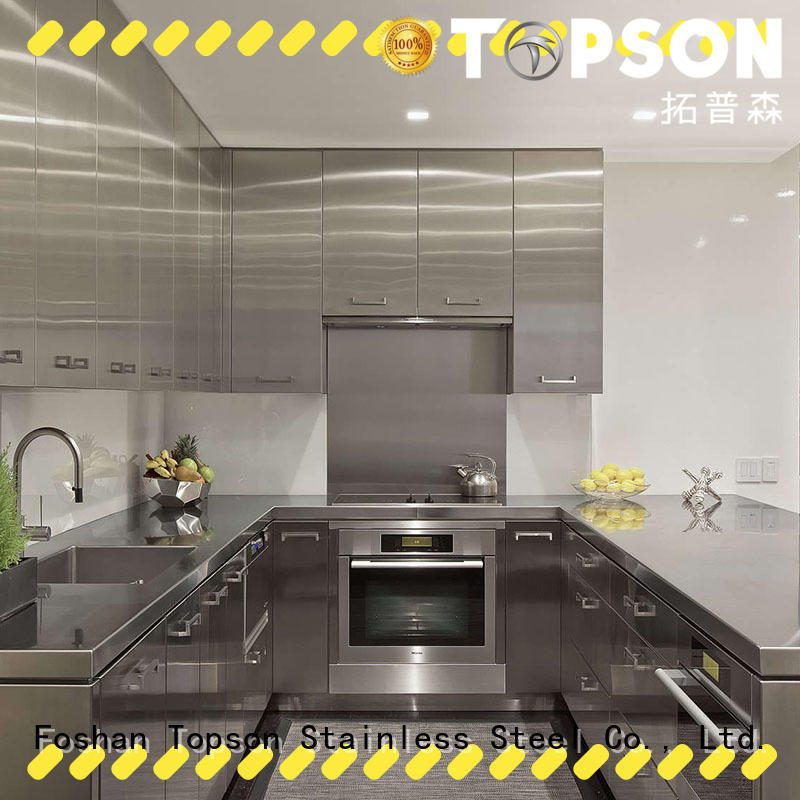 Topson widely used stainless steel kitchen cabinets workshops for outdoor wall cladding