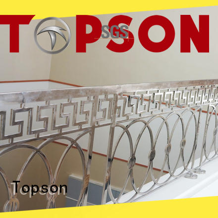 Topson balcony stainless steel balcony railing research for tower