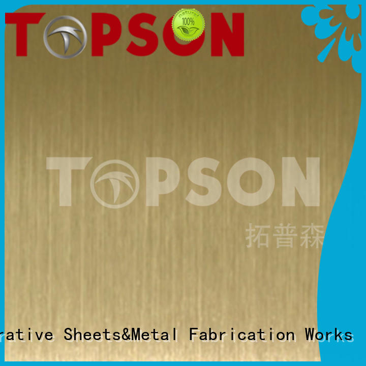 Topson Wholesale stainless steel sheets manufacturers for handrail
