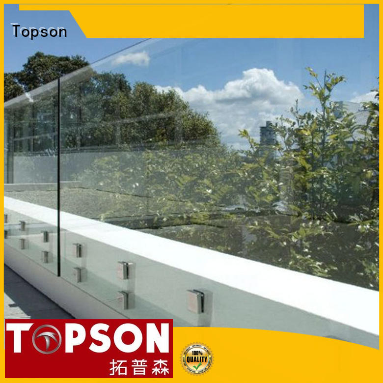 Topson furniture interior glass railing for manufacturer for outdoor