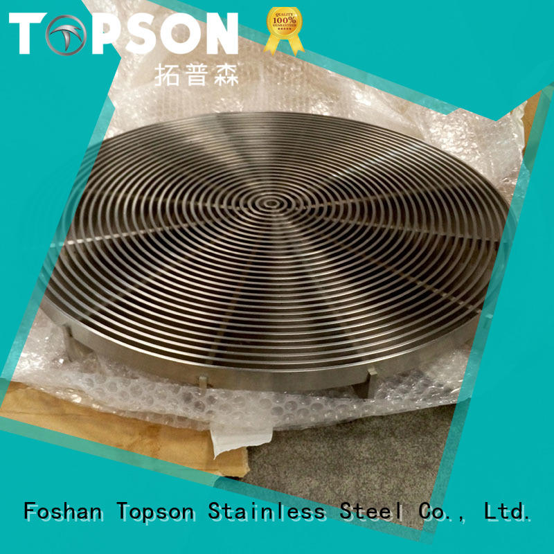 Topson steel non slip metal grating in-green for mall