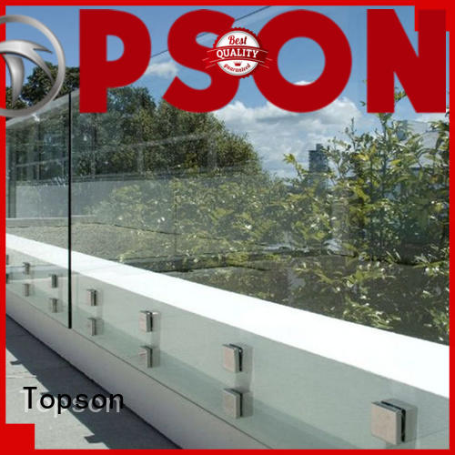 Topson modern modern glass handrail Supply for restaurant