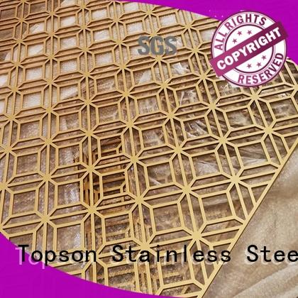 Topson durable outdoor metal privacy screens in china for exterior decoration