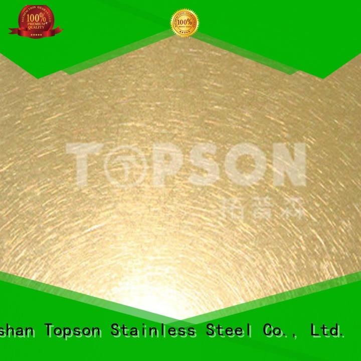 Topson hairline metal work supplies security for vanity cabinet decoration