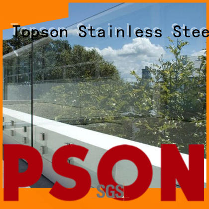 Topson stable glass guardrail systems for TV wall