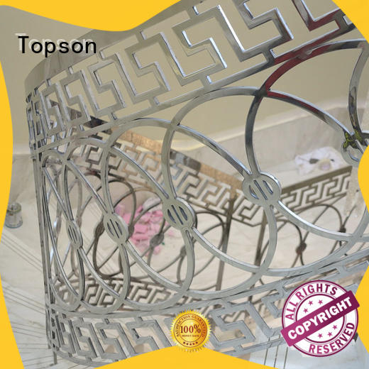 Topson advanced technology stainless steel handrail application for building