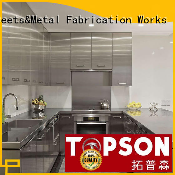 Topson Latest custom stainless steel cabinets oem for building facades