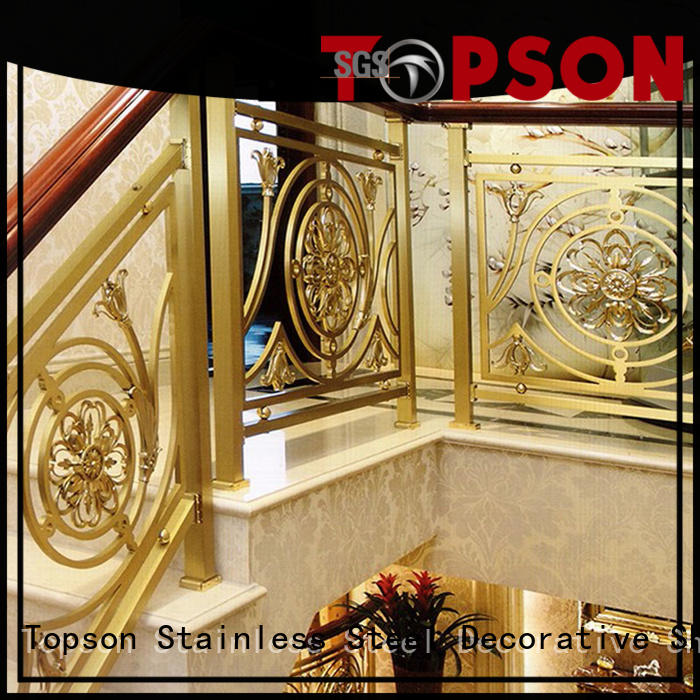 Topson good looking stainless railings improvement for building