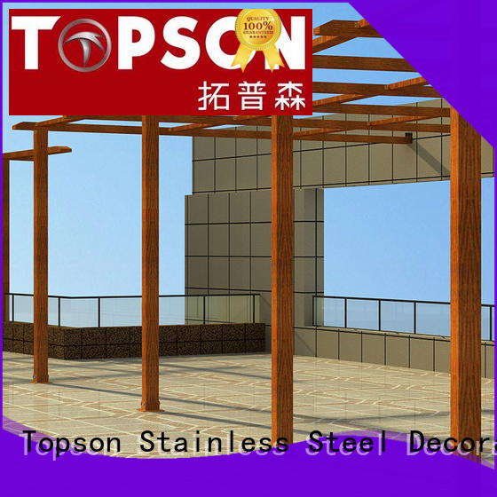 Topson high-density aluminium pergola China for park
