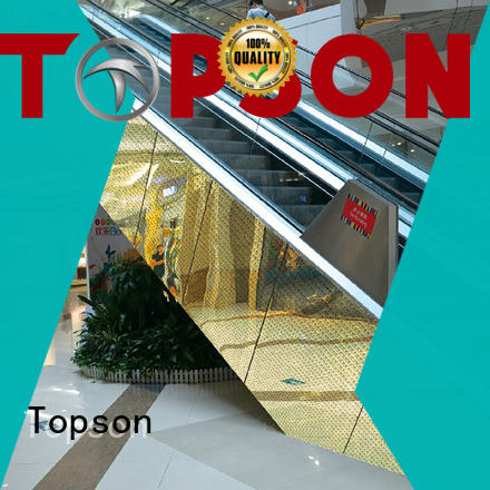 cladding stainless steel cladding cost steel for shopping mall Topson