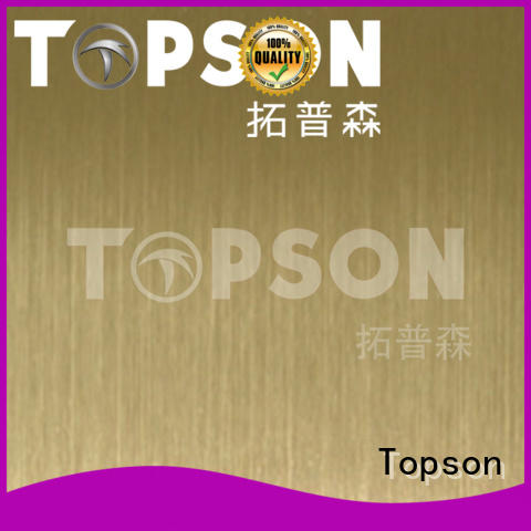Topson stable brushed stainless steel sheet circuit for handrail