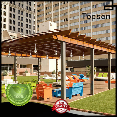 Topson High-quality powder coated aluminum pergola company for garden