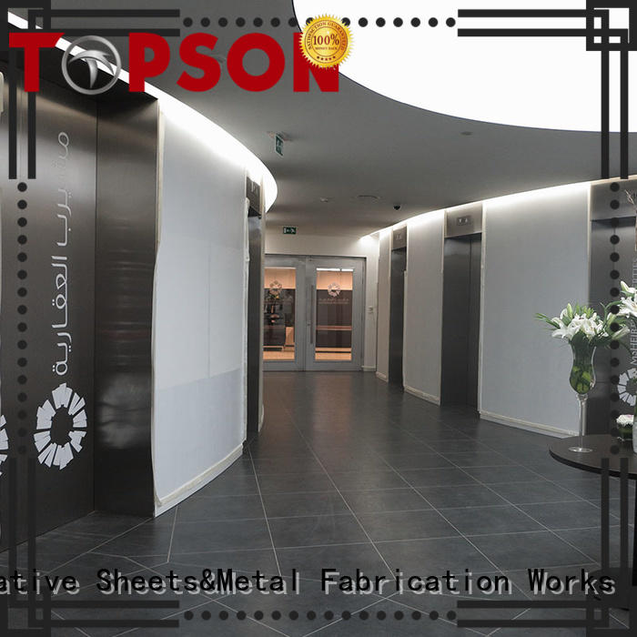 Topson reliable stainless steel door manufacturers Suppliers for outdoor wall cladding