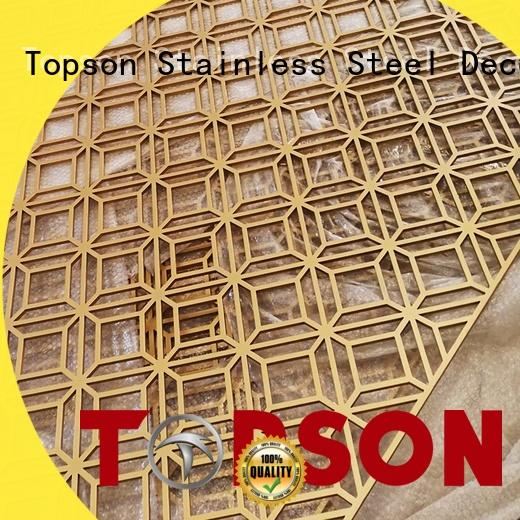 Topson elegant stainless steel screen marketing for landscape architecture