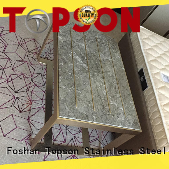 Topson widely used metal furniture manufacturers cabinetstainless for hotel lobby decoration