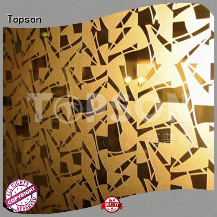 raw bead blasted stainless steel speed for interior wall decoration Topson