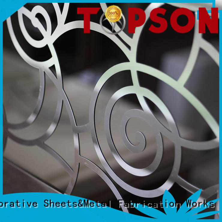 Topson high-tech exterior stainless steel railings Supply for mall