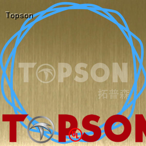 Topson widely used decorative stainless steel sheet metal Supply for floor