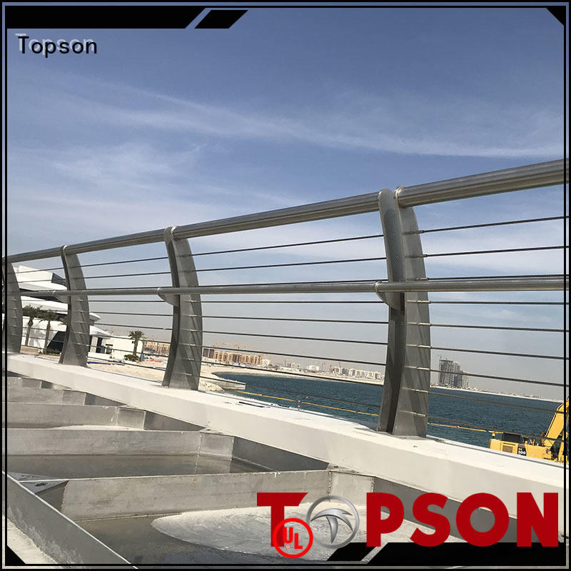 balcony stainless cable railing application for apartment Topson