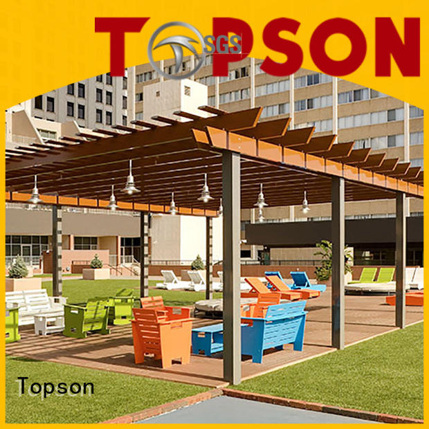 Topson aluminium custom aluminum pergola Suppliers for hotel