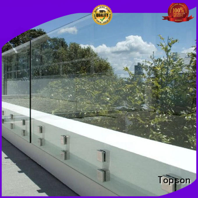 Topson excellent glass balcony railing overseas marketing for outdoor