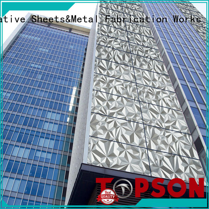 Topson cost-effective metal cladding panels wall for shopping mall
