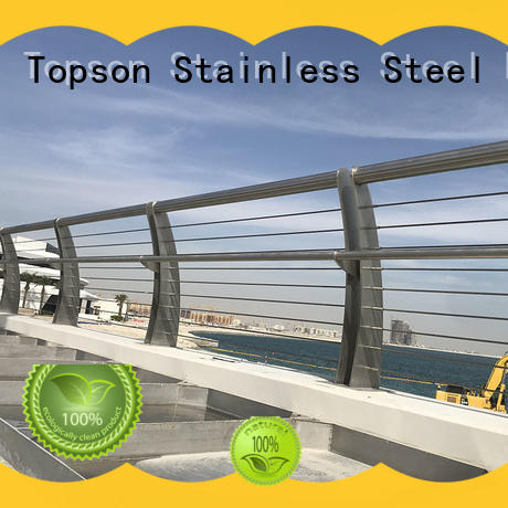 Topson good looking stainless steel guardrail systems certifications for building