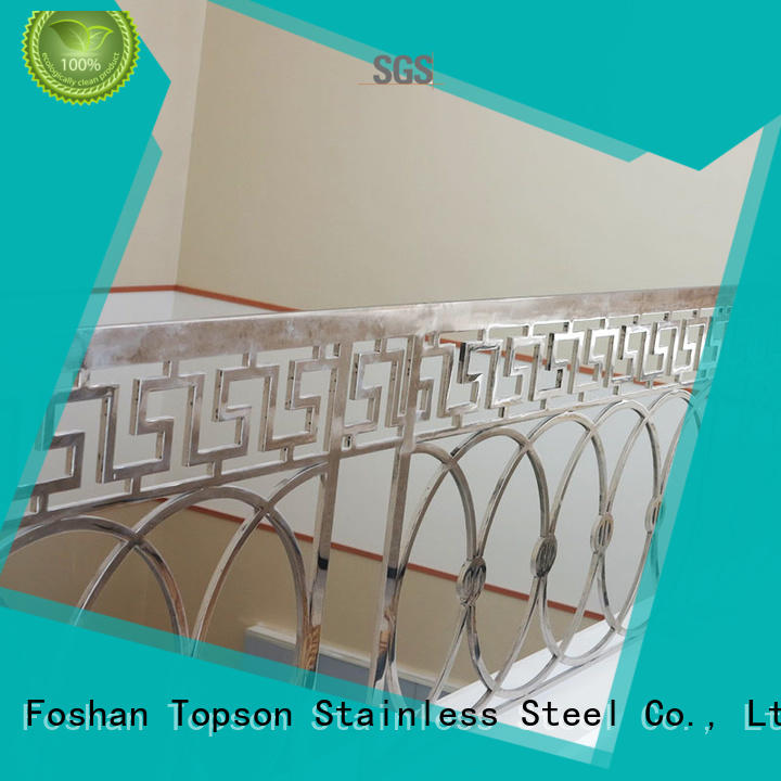 Topson bridge stainless steel cable handrail factory for tower