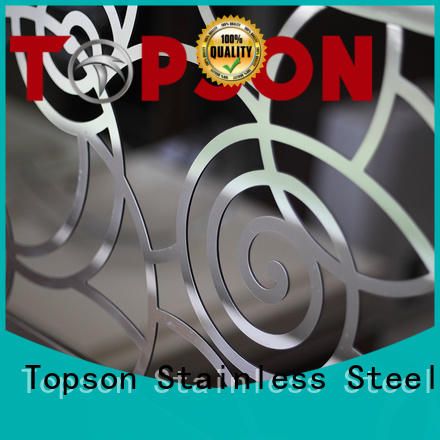 Topson Wholesale stainless steel handrail cost for business for tower