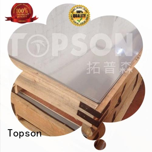 Topson mirror stainless steel sheet metal suppliers factory for floor