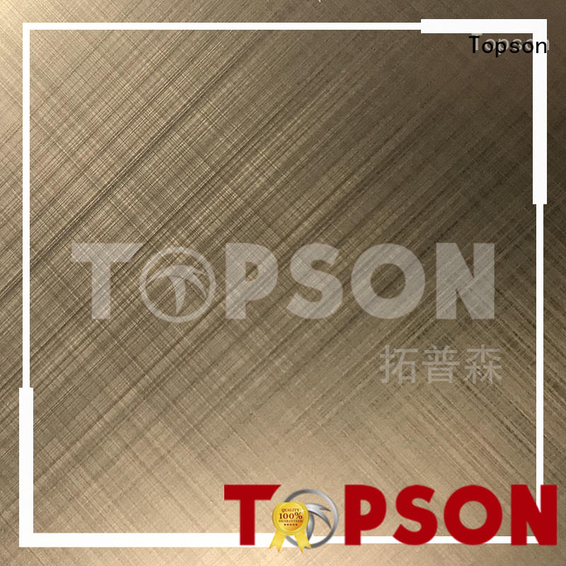 Topson New stainless steel sheet suppliers for vanity cabinet decoration