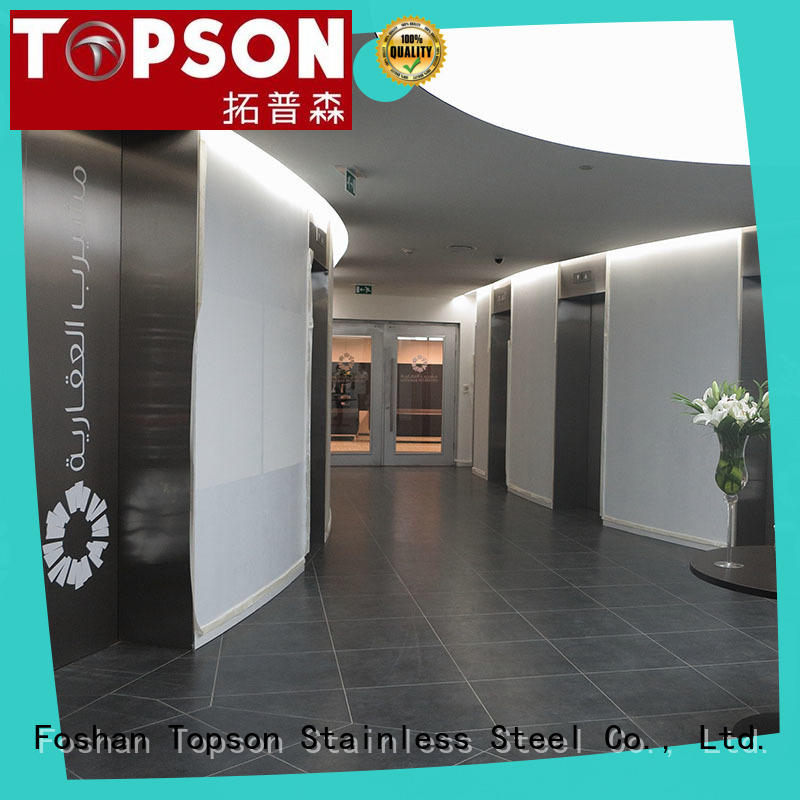 Topson commercial stainless steel door design modern Supply for kitchen decoration
