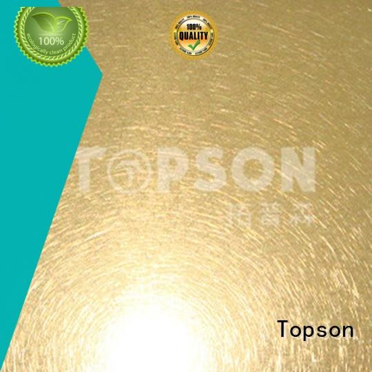 Topson Top stainless sheet sizes for interior wall decoration