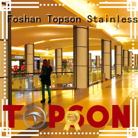 wall stainless steel column cladding cladding for lift Topson