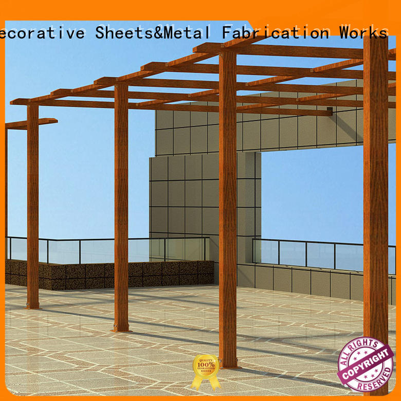 manufactured metal work supplies pergola factory for garden